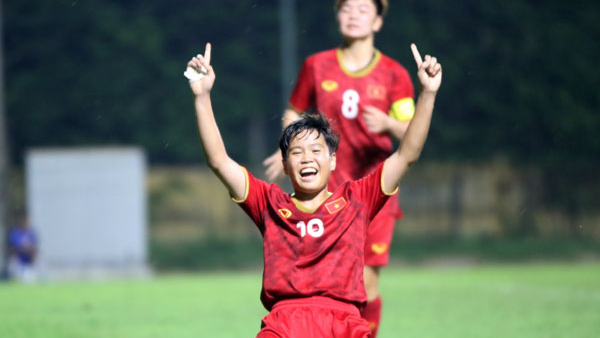 VIDEO bàn thắng duy nhất giúp tuyển nữ Việt Nam đánh bại Myanmar