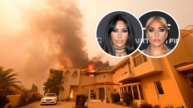 Siêu phố Malibu chìm trong biển lửa, Kim Kardashian, Lady Gaga tháo chạy