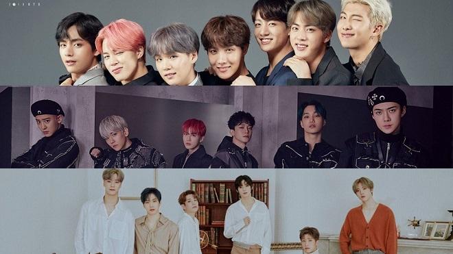 BXH nhóm nhạc nam tháng 12: BTS cao vời vợi, Bigbang tụt xa