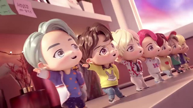 Ra mắt dòng sản phẩm hoạt hình siêu đáng yêu của BTS