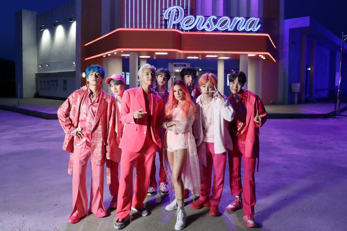 BTS, Black Swan, Map of the Soul: 7, Map of the Soul: Persona, MV Boy With Luv, Love Yourself: Answer, V, Jin, Jimin, Jungkook, Suga, RM, J-Hope