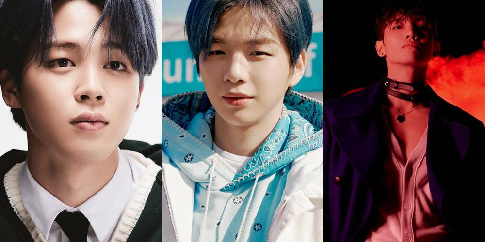 Jimin BTS, Jimin BTS cạnh tranh với Kang Daniel trên BXH thần tượng tháng 4, Jimin BTS lại tiếp tục đứng đầu BXH, Changmin TVXQ, Solar Mamamoo, V BTS, Jungkook BTS, Jin