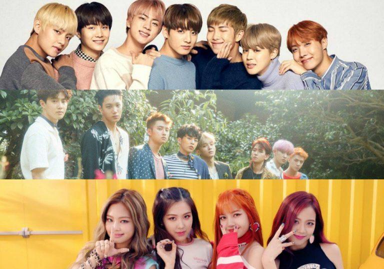 BTS, Blackpink, BTS Blackpink EXO đứng đầu BXH Kpop tháng 4, bts, blackpink, exo, kpop, Mamamoo, Red Velvet, Apink, Gi dle, Twice, Winner, Izone, Bts, twice