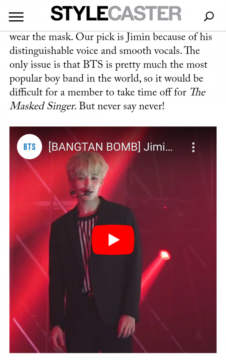 BTS, BTS đeo mặt nạ hát, Giám khảo The Masked Singer Mỹ réo tên Jimin BTS, Bts, BTS tin tức mới, BTS Jimin, Jimin BTS, Jimin