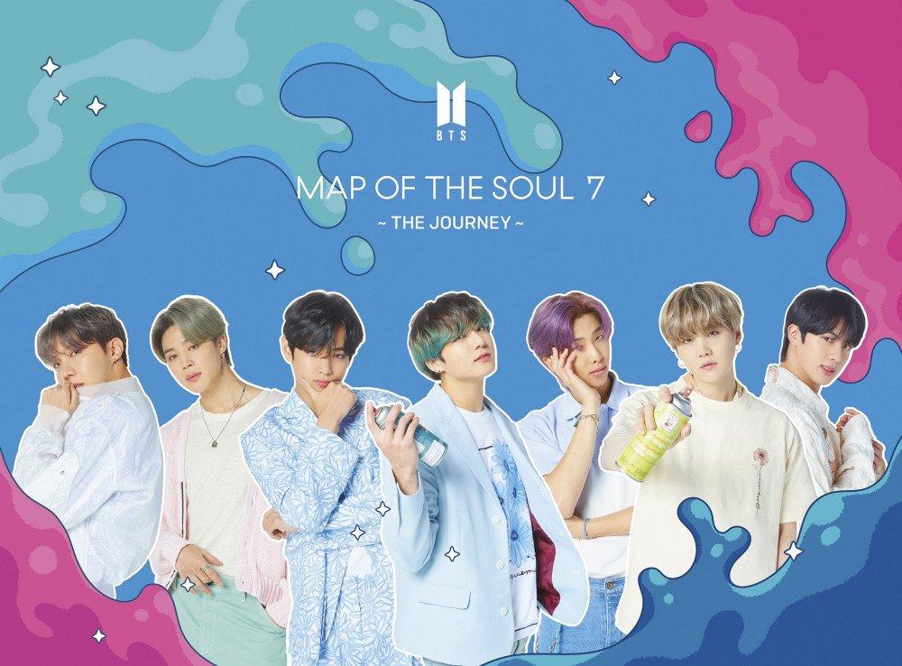 bìa Map of the soul 7 Journey, album tiếng nhật thứ tư của BTS, BTS đạo Bigbang