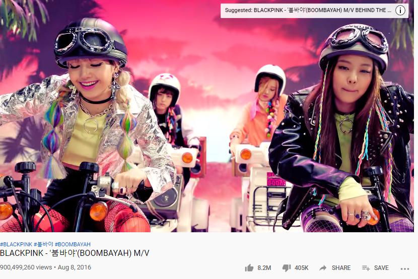 Blackpink, MV Bombayah của Blackpink, Bombayah vượt mốc 900 triệu lượt xem, Ddu-du Ddu-du, Kill This Love, No More Dream, Blackpink phá kỷ lục