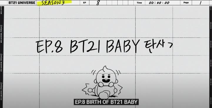 BTS, BTS cũng cuồng thuyết âm mưu, Đối tượng của BTS, BTS quan tâm đến BT21, BTS Universe, The Notes 1, tập 8 BT21 Universe 3,  BT21 thành phiên bản trẻ em