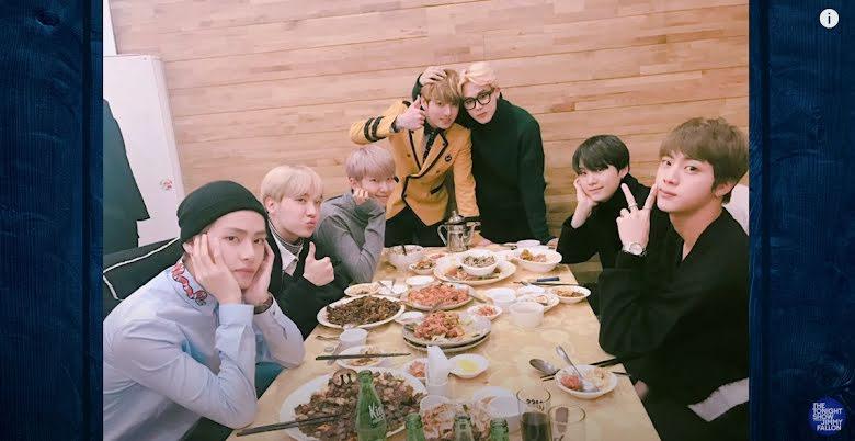 BTS, Jungkook, BTS cãi lộn tranh công nuôi Jungkook dậy thì thành công, The Tonight Show, thời thiếu niên của Jungkook, V, Jin, Suga, RM, Jimin, J-Hope, Jimmy Fallon