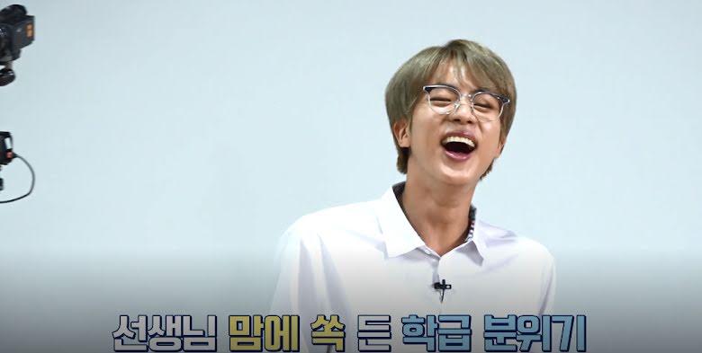 BTS, Jin BTS, Học trò BTS quậy tanh bành, thầy giáo Jin còn cao tay hơn, các quy tắc của Jin, tập 112 của Run BTS, thầy giáo Jin,Jungkook, Jimin, RM, Suga, J-Hope, V
