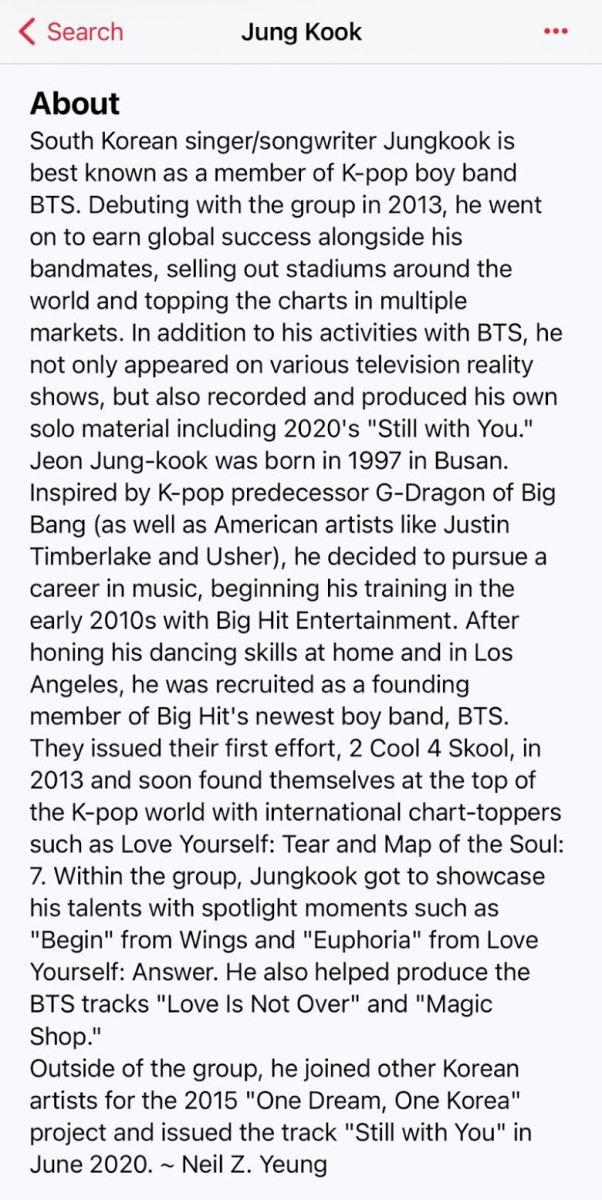 BTS, Jungkook, JJK1, Mixtape mới của Jungkook, Thêm ẩn ý mixtape Jungkook, Jungkook đổi tiểu sử nghệ sĩ, tổng hợp ẩn ý mixtape mới Jungkook