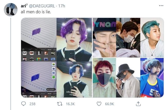 BTS, Jungkook, Tóc mới của Jungkook là xanh hay tím, Jungkook nhuộm xanh, Jungkook tóc mới 2021, Jungkook blue, Jungkook tóc xanh