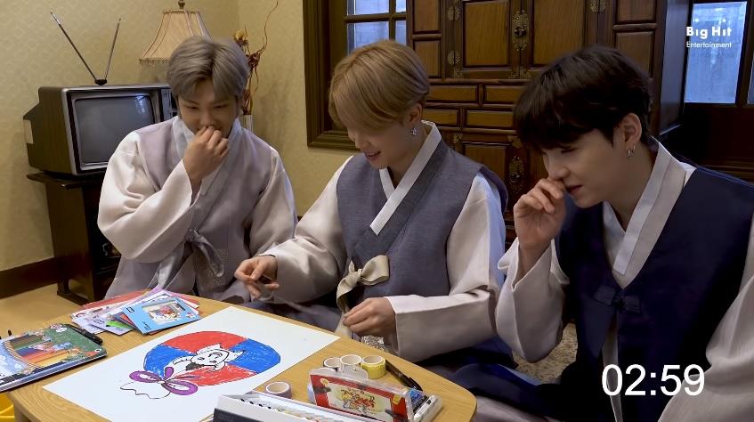 BTS, Năm mới Tân Sửu, BTS chúc mừng năm mới, BTS hanbok 2021, BTS năm mới 2021, BTS vẽ bò