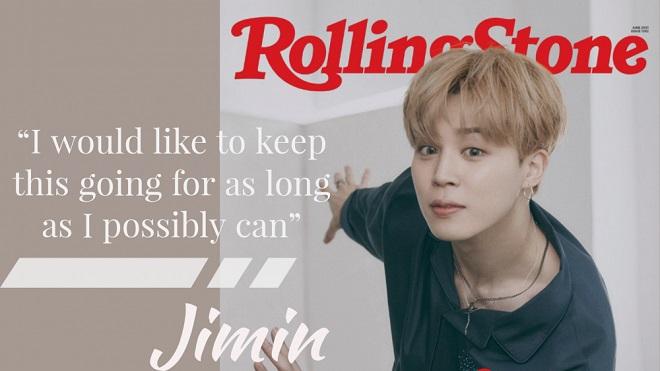 Jimin BTS thể hiện sự trưởng thành về cảm xúc trên câu chuyện bìa Rolling Stone