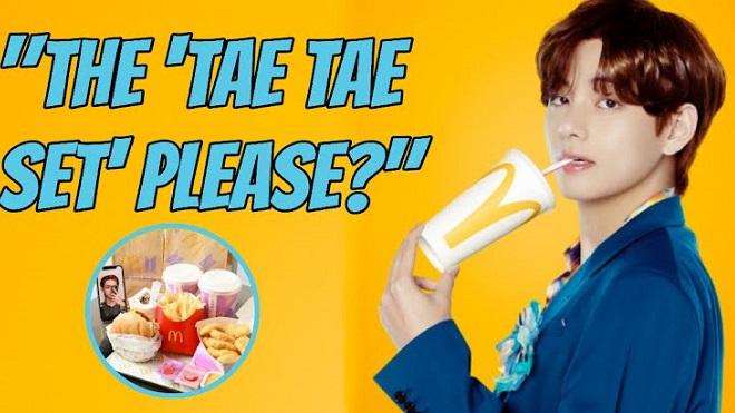 ARMY phát cuồng với bữa ăn 'Tae Tae Set' mà V BTS mê mẩn ở McDonald