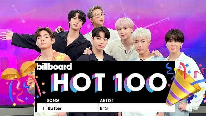 BTS lập lịch sử mới khi 'Butter' soán ngôi Hot 100 của 'Permission To Dance'