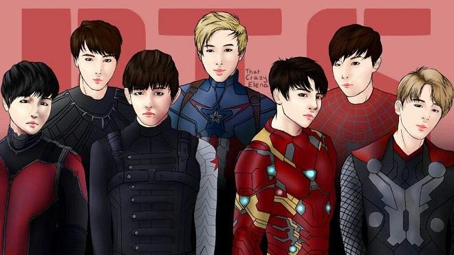 BTS từng hát nhạc phim Marvel thời xa lắc