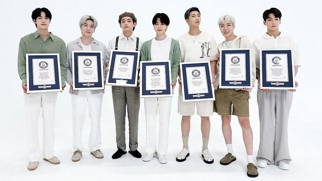 Kỷ lục Guiness Thế giới tôn vinh BTS bước vào Đại sảnh Danh vọng