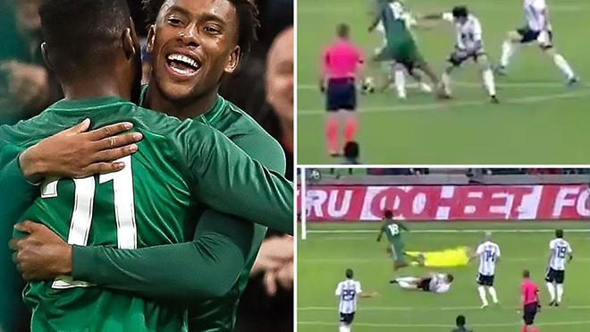Fan Arsenal phát cuồng khi Iwobi lập cú đúp vào lưới Argentina và pha 'xâu kim' Mascherano