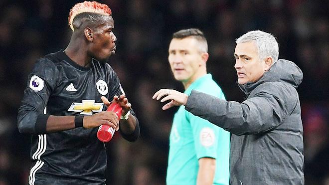 Mourinho: 'Pogba nhận thẻ đỏ vì bị gây ức chế. Cầu thủ Arsenal rất dễ ngã'