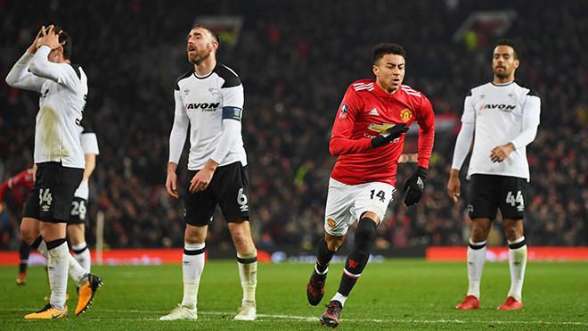 Video clip highlights bàn thắng trận M.U 2-0 Derby County: Lingard và Lukaku tỏa sáng