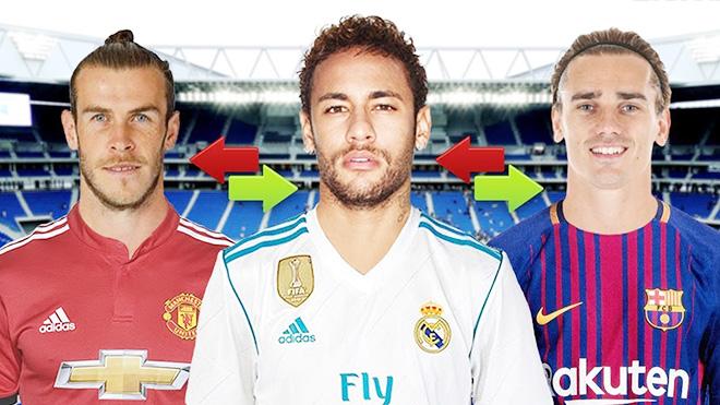 Những bom tấn trước World Cup 2018: Neymar tới Real Madrid, Griezmann chọn Barca, Bale cập bến M.U
