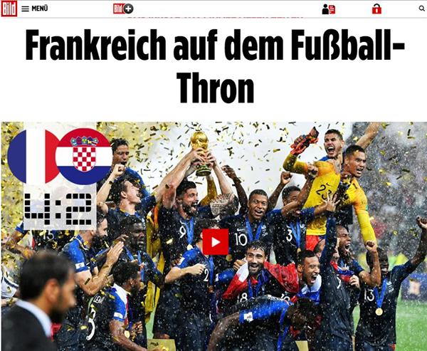 Pháp, vô địch thế giới, World Cup, Croatia