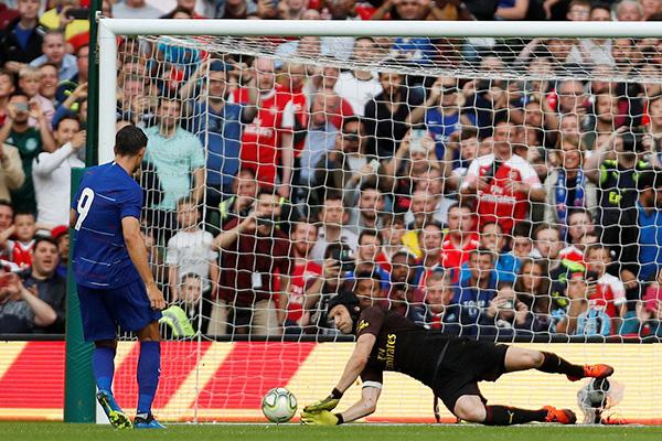 Arsenal vs Chelsea, Morata, Cech