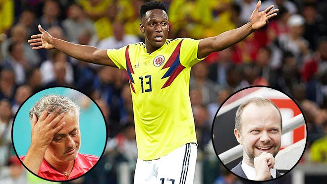 Yerry Mina đàm phán với M.U rồi gia nhập… Everton, Mourinho phát bực với Woodward