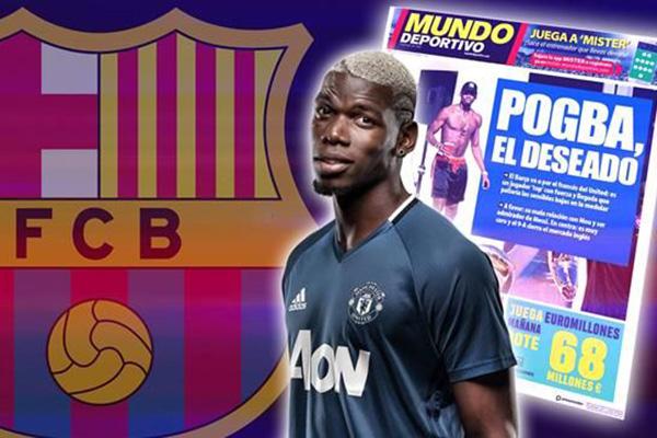 Pogba đến Barcelona, Pogba, Barca, M.U