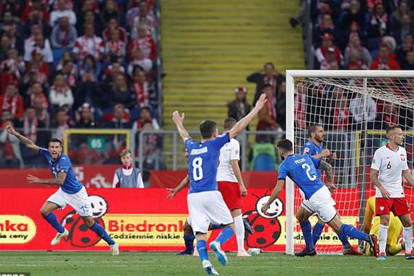 Video clip Ba Lan 0-1 Ý, kết quả Ba Lan vs Ý, Ba Lan vs Ý, UEFA Nations League, kết quả UEFA Nations League, thoát xuống hạng, Mancini, Biraghi, phút bù giờ