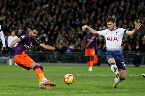 Video clip Tottenham 0-1 Man City, kết quả Tottenham vs Man City, tỷ số Tottenham vs Man City, Kết quả bóng đá Anh, Tottenham vs Man City, Mahrez, Wembley, Ederson