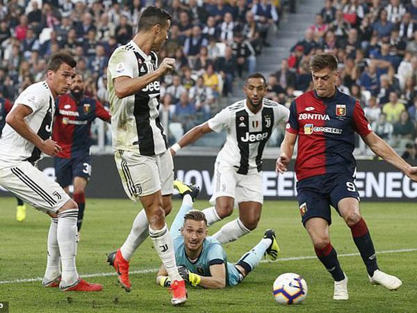 Juventus, Juve, Ronaldo, Ronaldo ghi bàn, Video clip bàn thắng Juventus 1-1 Genoa, Juventus 1-1 Genoa, Ronaldo đi vào lịch sử, Ronaldo lập kỷ lục, đua vô địch với Napoli