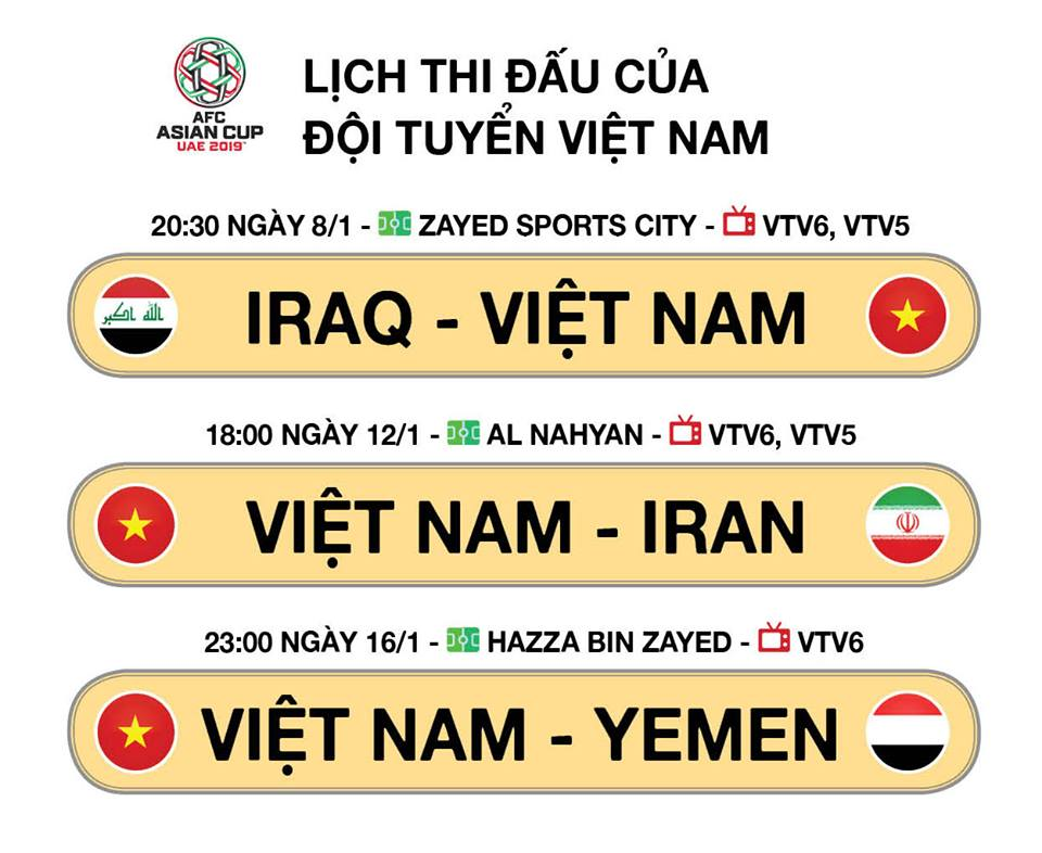 lịch thi đấu bóng đá, lich thi dau bong da hom nay, VTV6, VTV5, lịch thi đấu Asian Cup 2019 24h, lịch thi đấu Asian Cup 2019, Asiad 2019, Việt Nam, trực tiếp bóng đá