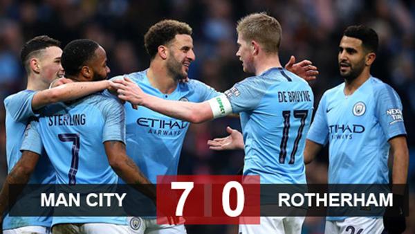 Cúp FA vòng 2, kết quả cúp FA, kết quả bóng đá Anh, kết quả bóng đá, ket qua bong da, kết quả Man City vs Rotherham, video Man City 7-0 Rotherham, MU, Chelsea, Arsenal