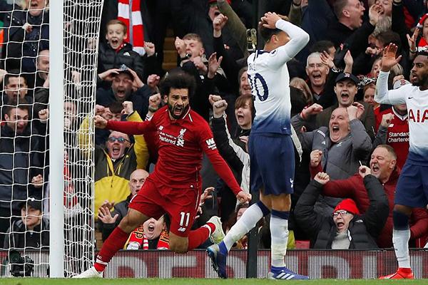 Kết quả Liverpool vs Tottenham, Liverpool vs Tottenham, video Liverpool 2-1 Tottenham, Klopp phát biểu, Liverpool may mắn, bảng xếp hạng Ngoại hạng Anh, Mohamed Salah