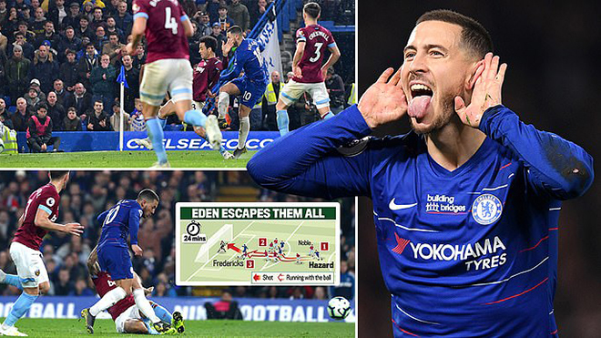 VIDEO Chelsea 2-0 West Ham: Hazard rực sáng, The Blues lọt vào Top 3