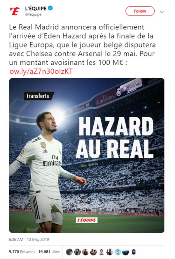 Real Madrid mua Hazard, Hazard tới Real Madrid, Chuyển nhượng Real Madrid, Hazard, chuyển nhượng Chelsea, chung kết cúp C2, Chelsea Arsenal, Hazard ra mắt, Chelsea, Real
