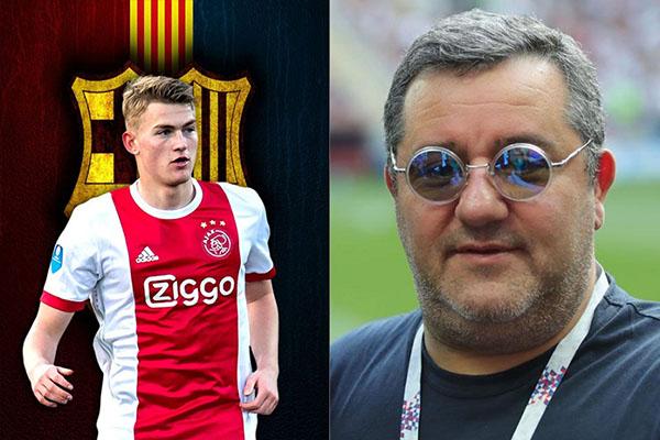 De Ligt gia nhập MU, De Ligt tới MU, chuyển nhượng MU, chuyển nhượng Man United, MU chiêu mộ De Ligt, MU hớt tay trên Barca, MU Barca De Ligt, De Ligt, Mino Raiola, MU