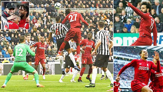 Newcastle 2-3 Liverpool: Rượt đuổi ngoạn mục, The Kop tái chiếm ngôi đầu
