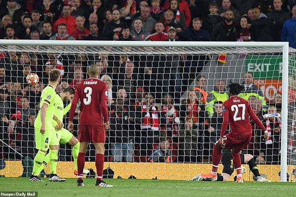 Liverpool vs Barca, kết quả Liverpool vs Barca, video Liverpool vs Barca, Liverpool 4-0 Barca, Liverpool 4-0 Barcelona, Video Liverpool vs Barcelona,  kết quả Cúp C1, C1