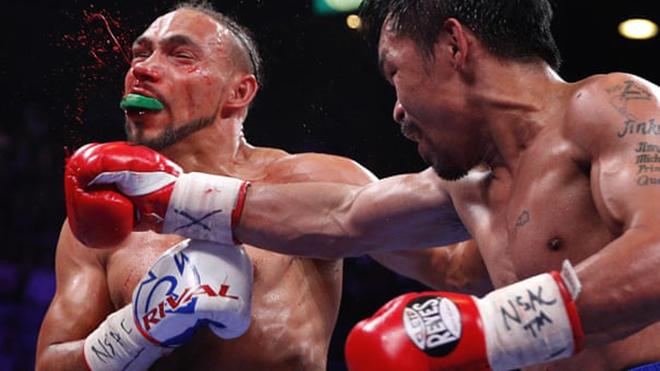 Manny Pacquiao vs Keith Thurman, Pacquiao vs Thurman, kết quả quyền Anh, ket qua quyen Anh, kết quả đấm bốc, đai WBA, Pacquiao đấm đối thủ hộc máu, Pacquiao, quyền Anh