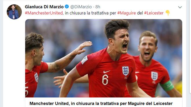 mu, chuyển nhượng mu, man united, Harry Maguire, Harry Maguire đến mu, Maguire gia nhập mu, chuyển nhượng bóng đá, chuyển nhượng, lịch thi đấu bóng đá hôm nay, Di Marzo