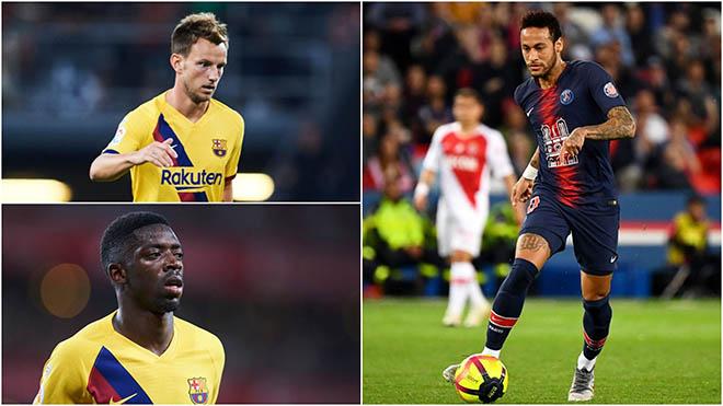 Bong da, bóng đá, chuyển nhượng Barca, chuyển nhượng Barcelona, Barca, Barcelona, lịch thi đấu bóng đá hôm nay, Rakitic, Ousmane Dembele, PSG, Barca mua Neymar, Neymar