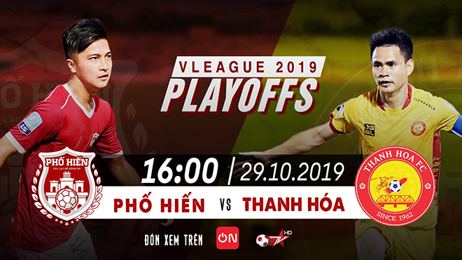 TRỰC TIẾP BÓNG ĐÁ VIỆT NAM: Thanh Hóa vs Phố Hiến (16h hôm nay), play-off V League. BĐTV