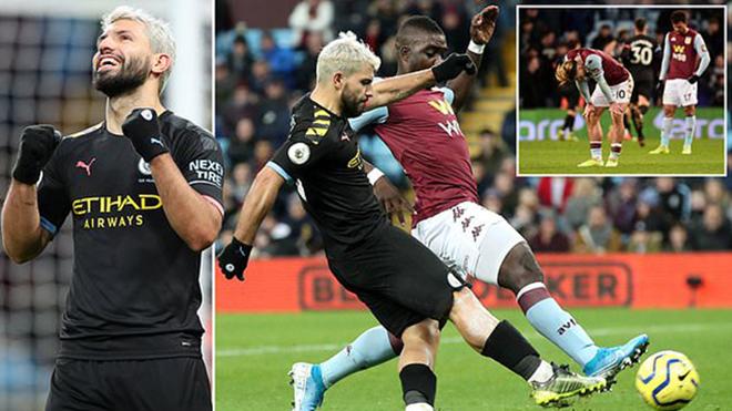 Ket qua bong da, Aston Villa vs Man City, video Aston villa 1-6 Man City, Kết quả Ngoại hạng anh, Aguero lập kỷ lục hat-trick, Aguero, BXH Ngoại hạng Anh, bong da hom nay