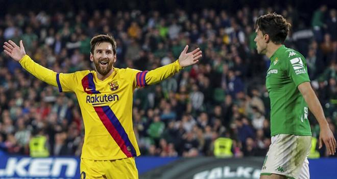 Ket qua bong da, Betis vs Barca, video Betis 2-3 Barca, Messi lập hat-trick kiến tạo, kết quả bóng đá, Betis vs Barcelona, video Betis 2-3 Barcelona, BXH La Liga, bong da
