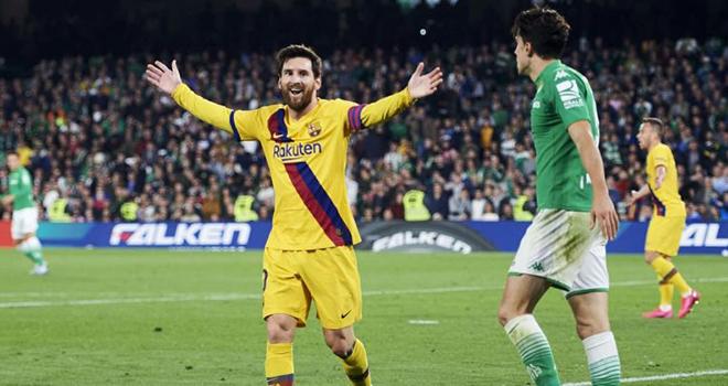 Bong da, bong da hom nay, Messi là vua kiến tạo La Liga, Messi lập hat-trick kiến tạo, Barcelona, Barca, Betis vs Barca, lich thi dau bong da hom nay, Sancho, De Bruyne