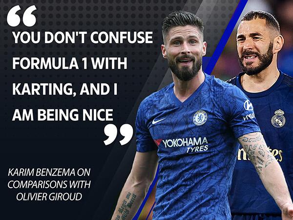 Benzema mỉa mai Giroud: 'Đua xe mini thì so thế nào được với F1'