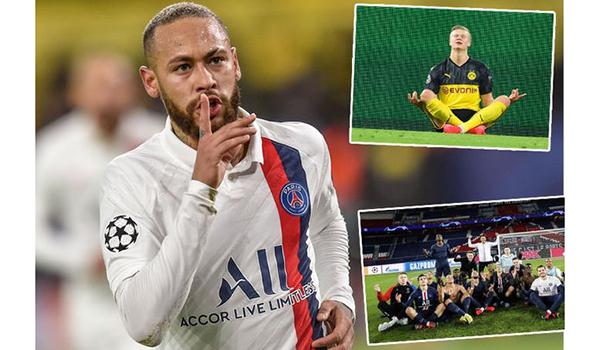 Bong da, Bóng đá, Tin tuc bong da, Neymar lên kế hoạch báo thù Erling Haaland, tin bong da, bong da hom nay, Neymar, Haaland, PSG vs Dortmund, Cúp C1, ăn mừng, báo thù