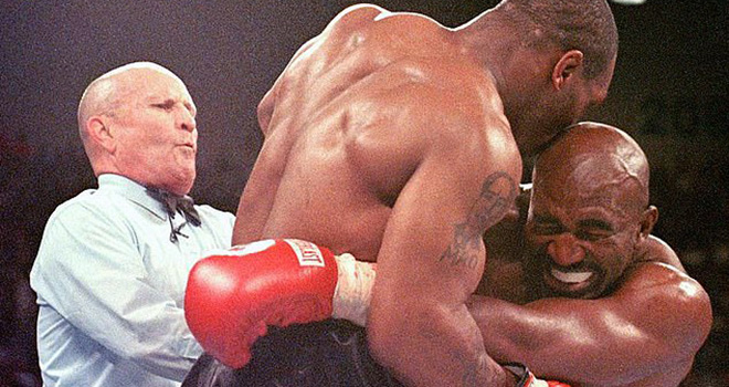Quyền Anh, Mike Tyson tái đấu Holyfield, Tyson vs Holyfield, Mike Tyson, Holyfield, đấm bốc, Mike Tyson tái xuất, Holyfield tái xuất, Mike Tyson cắn tai Holyfield